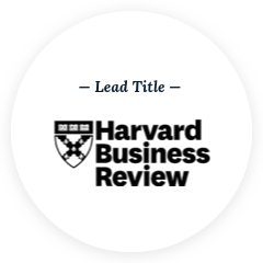 Harvard Business Review Press Lead Title